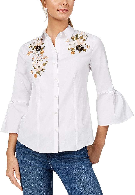 Charter Club Embellished BellSleeve Shirt