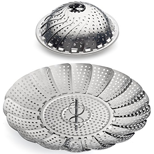 Sunsella Vegetable Steamer - 5.3' to 9.3' - 100% Stainless...
