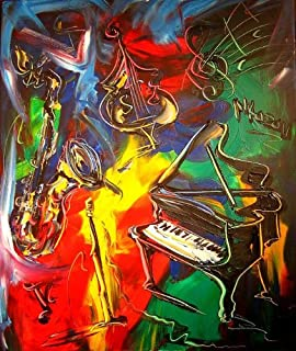 """Large 24"""" Modern Abstract - Wall Decor Art - Original Oil Canvas Painting - Stretched Signed By Mark Kazav - Must Have!"""
