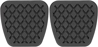 kaaka 2Pcs Anti-Slip Comfortable Soft Rubber Car Brake Pedal Clutch Pad Protective Cover for Honda Civic Accord Acura CR-V Auto Vehicle Additional Common Replacement Part Accessory