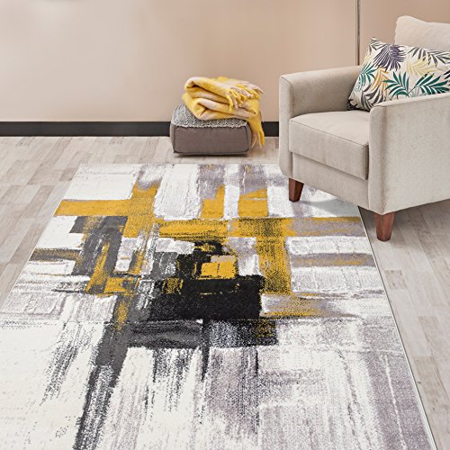 Rugshop Contemporary Modern Abstract Area Rug 7' 10' x 10'...