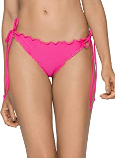 RELLECIGA Women's Wavy Tie-Side Brazilian Bikini Bottom