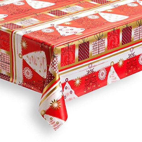 Haga-wohnideen - Tovaglia cerata natalizia in PVC, lavabile, 1,4 m², 140 cm di larghezza (merce al metro)