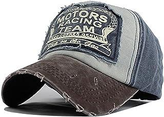 Xuzirui Baseball Cap Vintage Motors Racing Team Snapback Hat Cotton Motorcycle Hat Hip Hop Patchwork Grinding Hats For Men Women