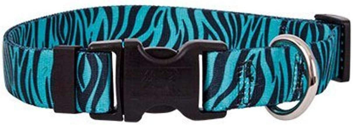 Yellow Dog Design Zebra Cheap bargain Teal Collar Tag Tag-A-Long OFFer ID with S