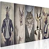 murando - Bilder Hirsch 225x90 cm Vlies Leinwandbild 5 TLG Kunstdruck modern Wandbilder XXL Wanddekoration Design Wand Bild - Natur Tier Landschaft g-B-0041-b-m
