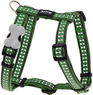 Red Dingo Reflective Dog Harness, Large, Green