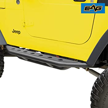 Amazon Com Eag Nerf Bars Side Step Armor Rock Guards Tubular Fit For 87 06 Wrangler Tj Yj Automotive