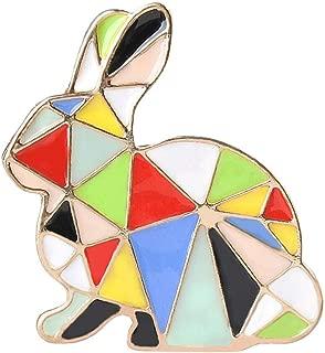 Cartoon Elk Rabbit Unicorn Pins Lapel Badge for Children Clothing Bag Decoration | Shape - Rabbit