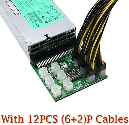 Alextry 1200 Watt / 750 Watt Breakout Board W Tasto per 1r HP Adattatore GPU Mining Ethereum con 12 pezzi per 1 angolo cavo 8 P - Trova i prezzi più bassi