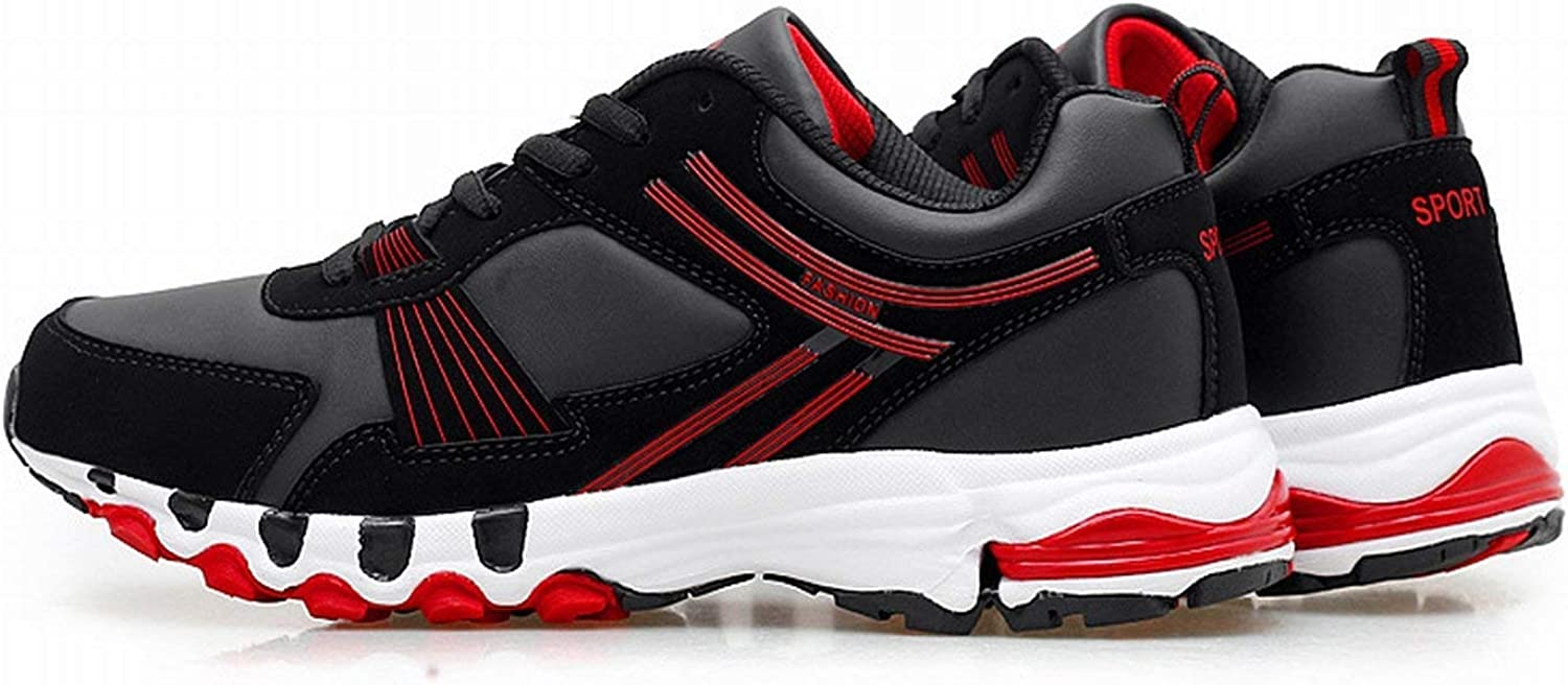 Fuxitoggo shoes men casual for help tie the development of light-play shoes casual (color   Black red, Size   NE40)