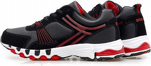 Fuxitoggo Souliers pour Hommes Occasionnels pour Aider à Lier Le développeHommest de Chaussures de Jeux légers Occasionnels (Couleuré   noir blanc, Taille   EU 44)