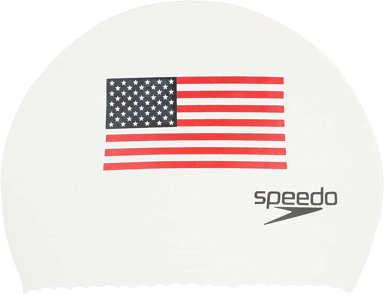 Speedoラテックス' Flag ' Swim Cap