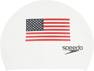 Speedo Latex 'Flag' Swim Cap