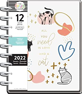 $29 » The Happy Planner Daily 12 Month Planner – January 2022 – December 2022 – Daily, Weekly & Monthly Disc-Bound Pages – Verti...