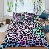Frauen-Bettwäsche-Set mit Gepardenmuster, bunt,