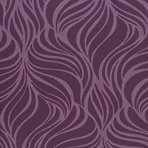 Casadeco Empreintes 21915108 behang leer dieren strepen lavendel en pruim donker