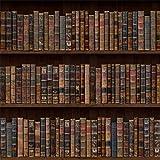 Laeacco Vintage Bookshelf Backdrop 8x8ft Vinyl Photography Background Old Bookshelf Orderly Antique Books Educator Teacher Writer Pupil Professor Classical Grunge Wallpaper Wedding Bookworm Library