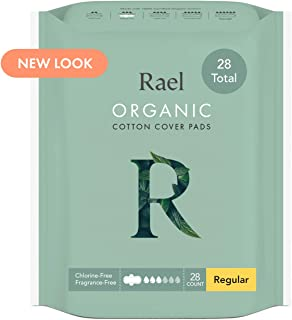 Sponsored Ad - Rael Certified Organic Cotton Menstrual Regular Pads, Ultra Thin Natural Sanitary Napkins with Wings (28 To...