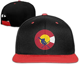 bbf01c42e9c5f3 Oopp Jfhg Hip Hop Baseball Cap Colorado Flag Trucker Flat Hats For Boy Girl