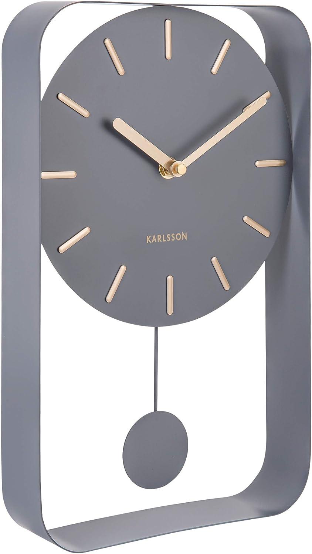 Karlsson ka5488gy-Horloge murale-Verre-Horloge murale modern-montres NEUF