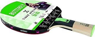 Butterfly Unisex Tiago Apolonia Impuesto 3Pan Asia Raqueta de Tenis de Mesa, Color Negro/Rojo, tamaño Completo