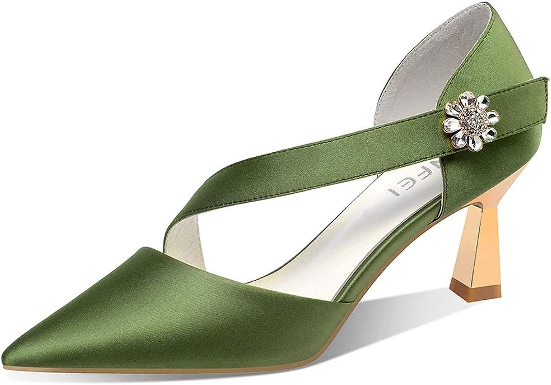 High Heels Damen Frühling und Sommer Sandalen Mode wies Sandalen Plattform Stiletto Sandalen 7cm High Heel Sandalen Temperament Queen High Heels