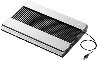 エレコム ノートパソコン冷却台 PS3 PS4 横置き アルミボディ 大型ファン×2 ブーストモード搭載 17インチまで対応 ブラック SX-CL23LBK