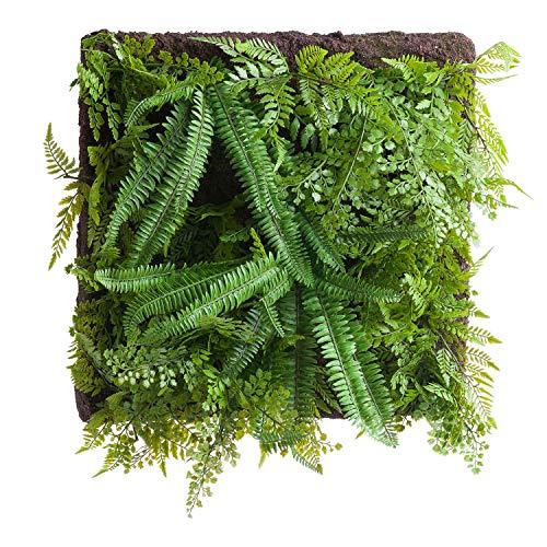 The Recipe Pannello da Parete Felce e Verde, Seta, 27.439999999999998 cm