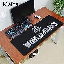 World Of Tanks Logo Durable Desktop Mousepad Table Keyboard Gaming Mouse PadLarge Office Computer Desk Mat Makfacp (Color : Lock Edge 30X70cm)