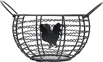 BESTonZON Kosz na owoce, uniwersalny koszyk na pieczywo kosz na jajka, druciany kosz dekoracyjny, metalowy kosz do przecho...