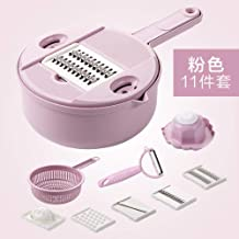 Slicers Multi-Function Slicer Shredder Kitchen Artifact Home Shredder Grater-Blue Food Cutter Soul hill (Color : Pink)