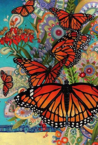 Toland Home Garden 1110777 Monarch Madness-Decorative Multicolor Butterfly Spring Garden Flag