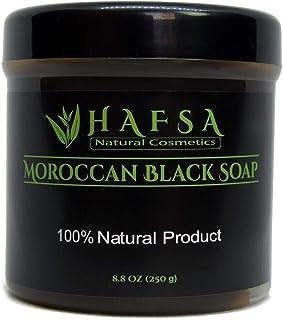 Moroccan Black Soap with Eucalyptus - Natural Beldi Soap, Body Scrub, Skin Hydrating Exfoliating Moisturizing Cleanser.