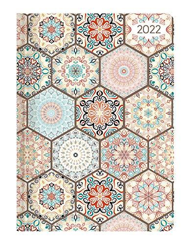 Ladytimer Midi Oriental 2022 - Taschen-Kalender 12x17 cm - Muster - mit Mattfolie - Notiz-Buch - Weekly - 192 Seiten - Alpha Edition