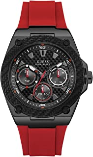 GUESS Mens Quartz Watch, Analog Display and Silicone Strap - W1049G6