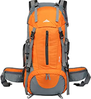 seenlast Hiking Backpack 50L Waterproof Camping Backpack with Rain Cover for Travel
