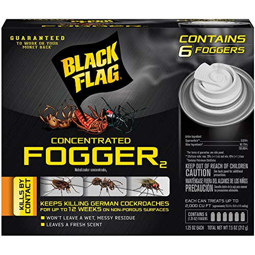 Black Flag 11079 HG-11079 6 Count Indoor Fogger, Clear