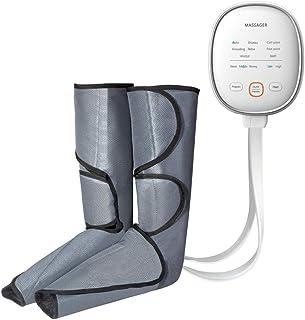 エアコンプレッションレッグマッサージャー、電動エアリラックスハンドヘルドコントローラーを使用したシーケンシャルプレッシャーフットマッサージラップ6モード筋肉の3の強度リラクゼーション血液循環を促進,Uk plug