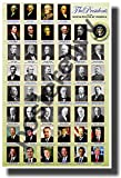 American History - The Presidents of the United States, NEW Classroom POSTER