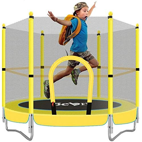 suge 5FT Folding Rebounder Kids Mini Trampoline for Kids, with Safe Net, Parent-Child Toys Fitness Entertainment Projects,Best Birthday Gift