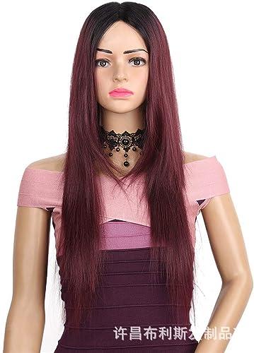 Wigs Fancy Dress Wigs Hairpieces Perücke Liefern Damen Schnüren Lange Glatte Haare Perücke 75Cm