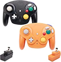 $40 » VTone Wireless Gamecube Controller, 2 Pieces 2.4G Wireless Classic Gamepad with Receiver Adapter for Wii Gamecube NGC GC (...