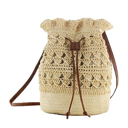Bolso de hombro ligero hecho punto de la mochila de la flor del gancho de las