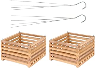 Best wooden hanging baskets Reviews