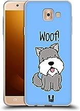 Head Case Designs Schnauzer Happy Puppies Soft Gel Case Compatible for Samsung Galaxy J7 Max