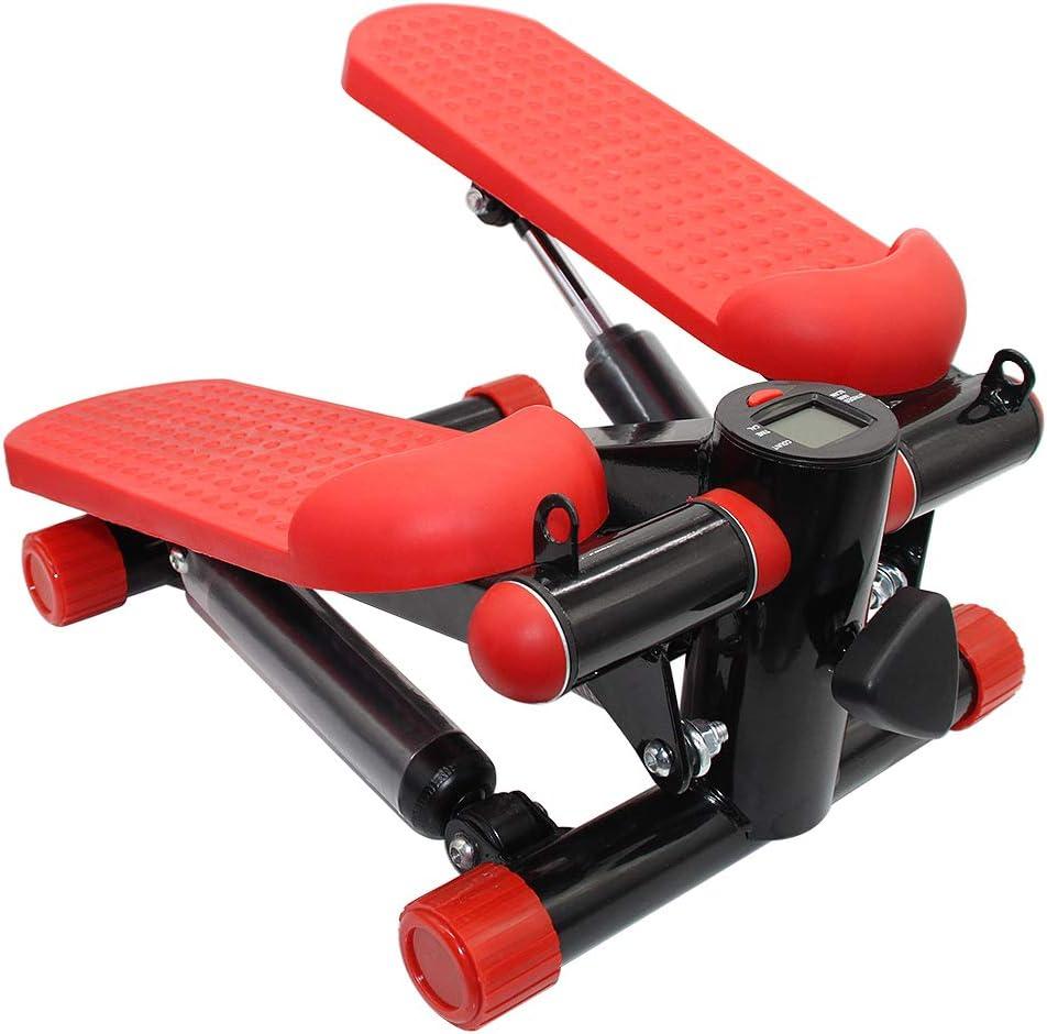 Beine und Ges/ä/ß JOSHNESE Stepper mit LCD-Display und Trainingsseilen,Mini-Fitnessger/ät Flacher Stepper f/ür Trainingsarme Bauchmuskeln