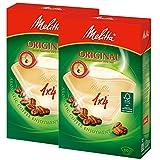 メリタ Melitta コーヒーフィルター オリジナル ナチュラルブラウン 1×4 4~8杯用 80枚入り×2個セット