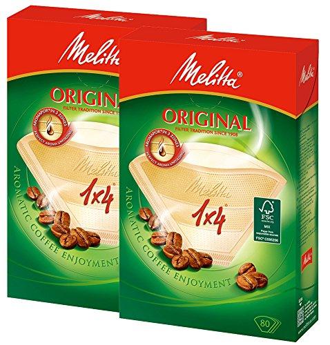 メリタ Melitta コーヒー フィルター ペーパー 4~8杯用 1×4 用 80枚入り ×2個 セット オリジナルシリーズ ...