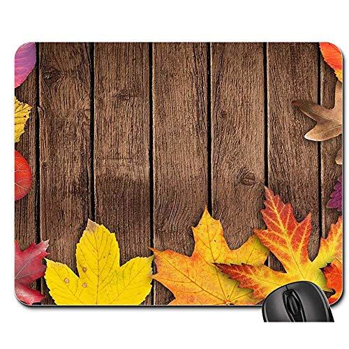 Mauspad Herbst Banner Poster Textfeld Einladungskarte Holz Mauspad Mauspad Mousepad Mauspads Spielmatte 25X30cm